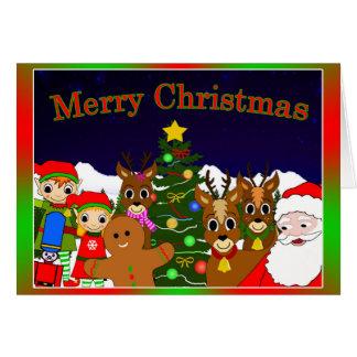 """Cartão """"Cartão lunar e do salgueiro do Natal do desejo"""""""