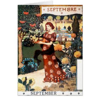 Cartão Cartão: Mês de setembro - Septembre