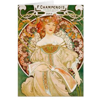 Cartão Cartão: Mucha - Champenois