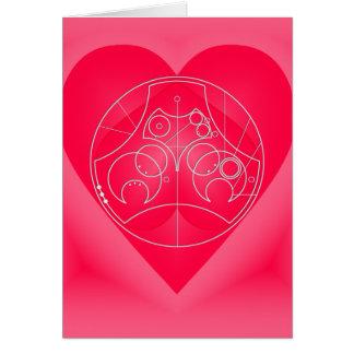 Cartão Cartão: Namorados circulares - prata