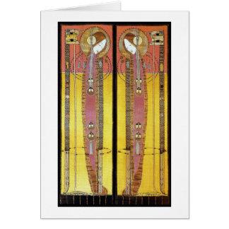 Cartão Cartão: Painéis bordados Macdonald de Margaret