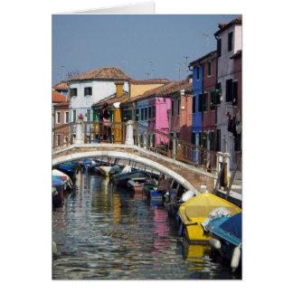 Cartão Cartão:  Ponte de Burano