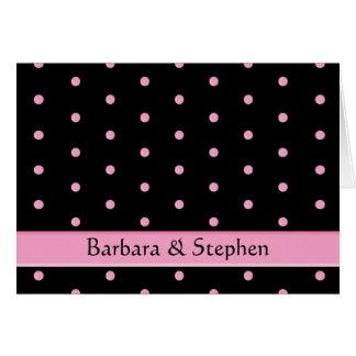 Cartão Cartão: Pontos pretos de w/Pink