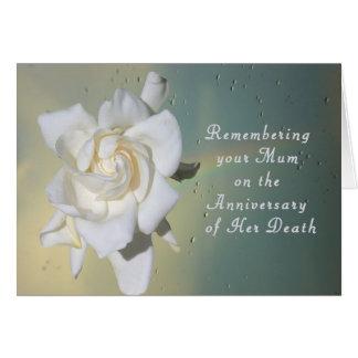 Cartão Cartão, recordando sua mãe no aniversário da morte