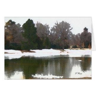 Cartão Cartão, reflexões do lago - toda a ocasião