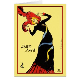 Cartão Cartão: Toulouse Lautrec - Jane Avril