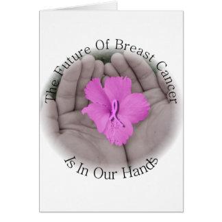 Cartão Cartão-Vazio da consciência do cancro da mama