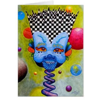 """Cartão """"Cartão vazio de 5x7 do homem azul"""" de Dwainizms"""