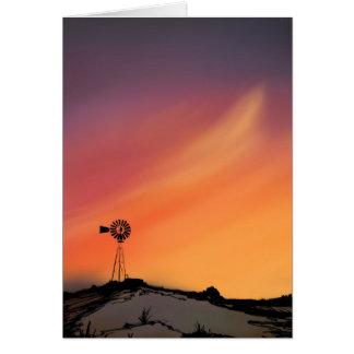 Cartão Cartão-Vazio do cumprimento do moinho de vento