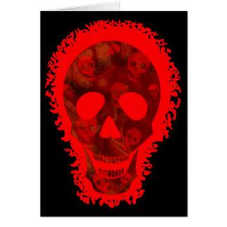 """Cartão """"Cartão vermelho do Dia das Bruxas feliz"""" do"""