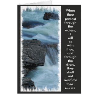 Cartão cartão, verso da bíblia