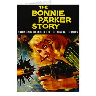 Cartão Cartaz cinematográfico 1958 do crime