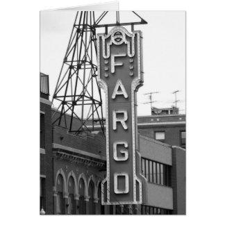 Cartão Cartaz do teatro de filme de Fargo