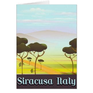 Cartão Cartaz do viagem da paisagem de Siracusa Italia