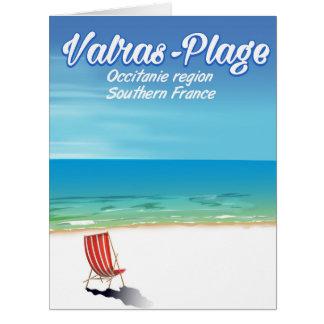 Cartão Cartaz do viagem da praia de France do