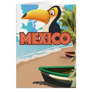 Cartão Cartaz do viagem da praia de Toucan do mexicano