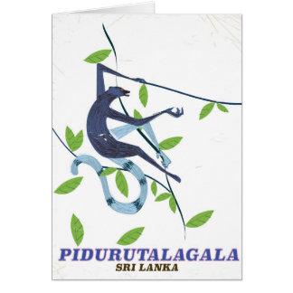 Cartão Cartaz do viagem de Pidurutalagala Sri Lanka