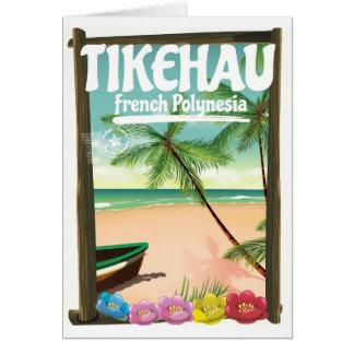 Cartão Cartaz do viagem de Tikehau Polinésia francesa