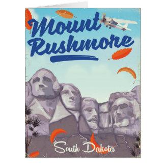 Cartão Cartaz do viagem do estilo do vintage do Monte
