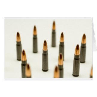Cartão Cartucho 7.62x39 de AK47 da bala da munição de
