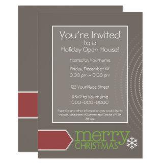 Cartão Casa aberta do feriado - escritório retro