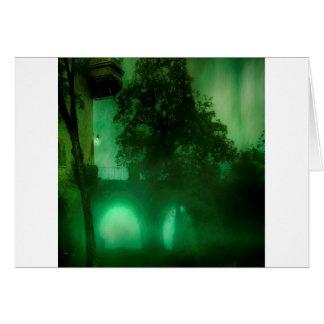 Cartão Casa abstrata da obscuridade do limão da fantasia