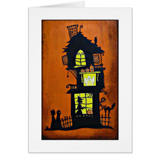 """Cartão """"Casa assombrada """""""