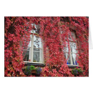 Cartão Casa bem-vinda - cores do outono