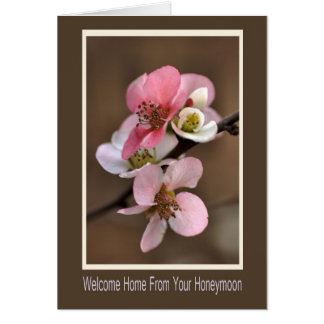 Cartão Casa bem-vinda de sua lua de mel