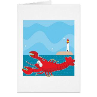 Cartão Casa clara da lagosta