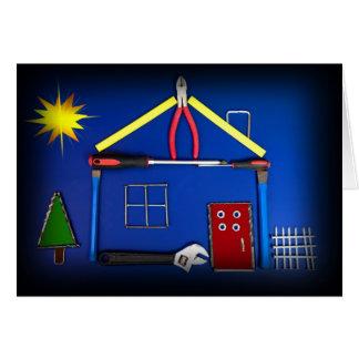 Cartão Casa da ferramenta (parabéns construídos