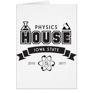 Cartão Casa da física