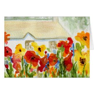 Cartão Casa da flor