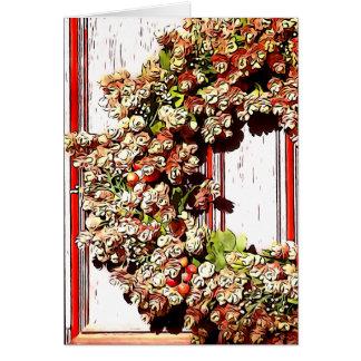 Cartão Casa das calorosas boas-vindas