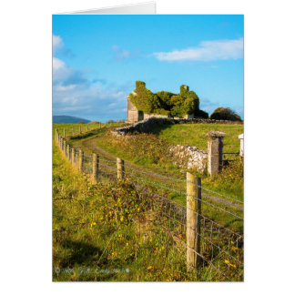 Cartão Casa de campo abandonada Co. Kildare, Ireland.