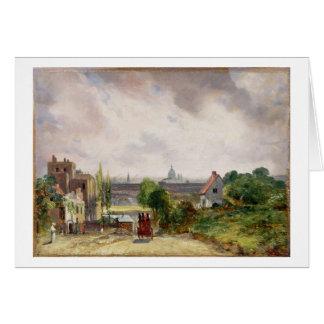 Cartão Casa de campo do senhor Richard Steele, Hampstead,