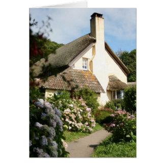 Cartão Casa de campo Thatched, Selworthy, Exmoor,
