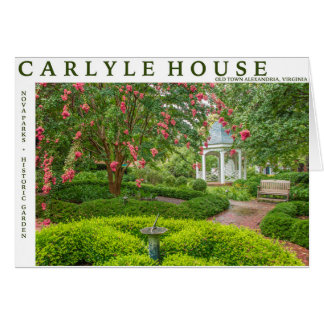 Cartão Casa de Carlyle e jardim histórico