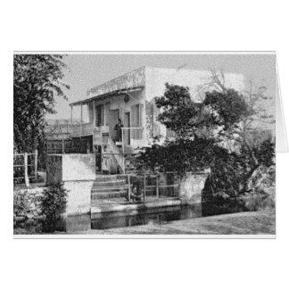 Cartão Casa de chá, jardim CA 1900 de Ridvan