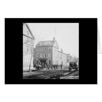 Cartão Casa de Marshall em Alexandria, VA 1865