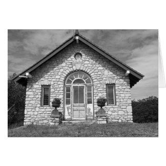 Cartão Casa de pedra