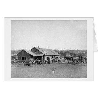 Cartão Casa de rancho ocidental na fotografia de South