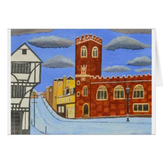 Cartão Casa de Tudor em Exeter