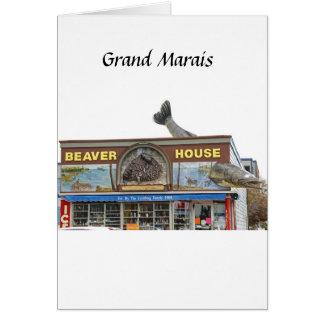 Cartão Casa do castor