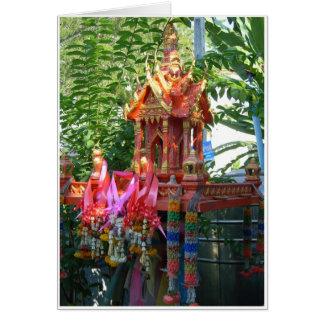 Cartão Casa do espírito do arco-íris
