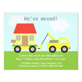 Cartão Casa do reboque do caminhão nós movemos o partido