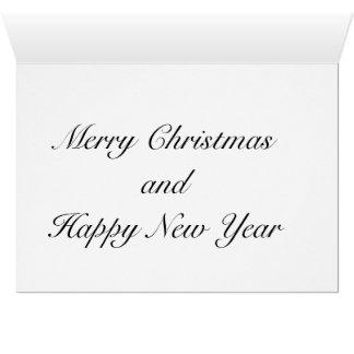 Cartão Casa do tijolo vermelho o molho de canto do Natal