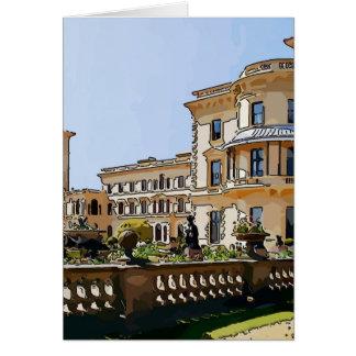 Cartão Casa e jardins de Osborne