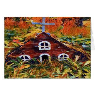 Cartão Casa feericamente pequena 3695