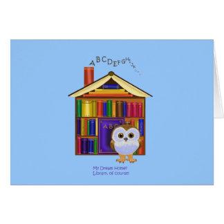 Cartão Casa ideal - biblioteca!
